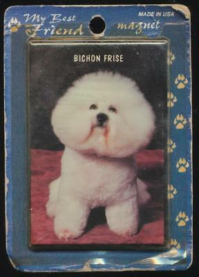 My Best Friend Bichon Frise Dog Refrigerator Magnet NOS