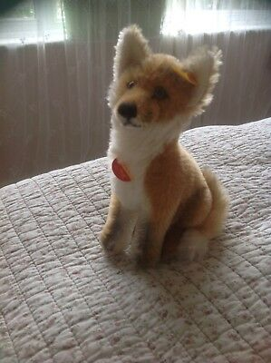 STEIFF Mohair Fuchs Fox With Paper Label