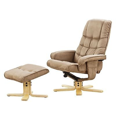 relax sessel mit hocker gamer sessel wohnen sessel beige dunkelbraun eur 4 50 picclick de. Black Bedroom Furniture Sets. Home Design Ideas