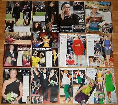 QUEEN MAXIMA OF THE NETHERLANDS clippings photos magazine articles royalty