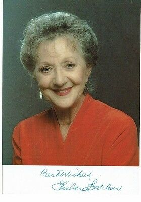Thelma Barlow Actress Dinner Ladies  Hand Signed  Photograph 6 x 4