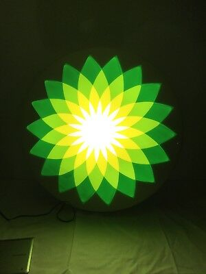"Bp Gas Station Helios Lighted Advertising Sign 36"" Tested Works Perfectly Fine"