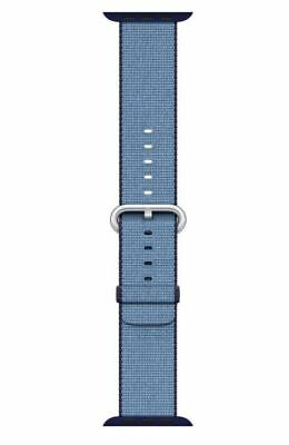 Open-Box Excellent: Apple - Woven Nylon for Apple Watch 38mm - Navy/Tahoe Blue