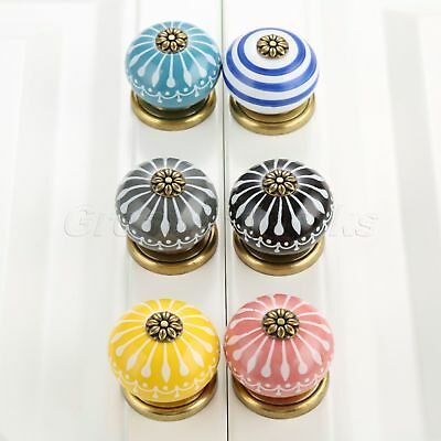 Classical Ceramic Furniture Door Knobs Drawer Pulls Porcelain Cabinet Handles