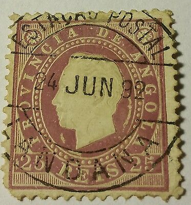 Angola   Scott#19  Used...worldwide Stamps