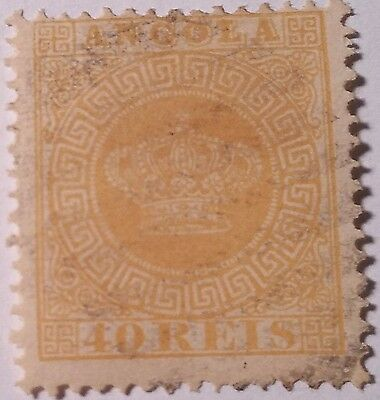 Angola   Scott#13 Used Stamp ..worldwide Stamps