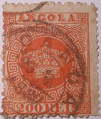 Angola   Scott#8 Used Stamp.....worldwide Stamps
