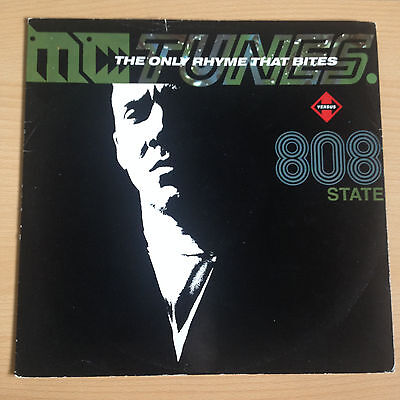 """808 State – The Only Rhyme That Bites Vinyl, 12"""",  ZTT – ZANG 3 T"""