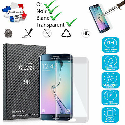 Samsung Galaxy S7 Edge Protection Écran 3D Verre Trempé + Coque TPU Transparent