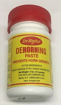 Dr. Naylor Dehorning Paste - Prevents Horn Growth 4oz