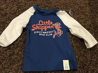 CHILDRENS PLACE infant boys long sleeve rash guard size 6-9 m NWT