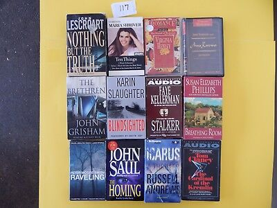 Lot of 12 Mixed Audio Books on Cassettes. L117