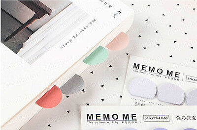 5 Color 150-page Bookmark Sticky Notes Post It Sticker Marker Memo Flags Pastel