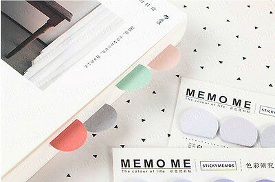 5 Color 150-page Bookmark Sticky Notes Postit Sticker Marker Memo Flags Pastel
