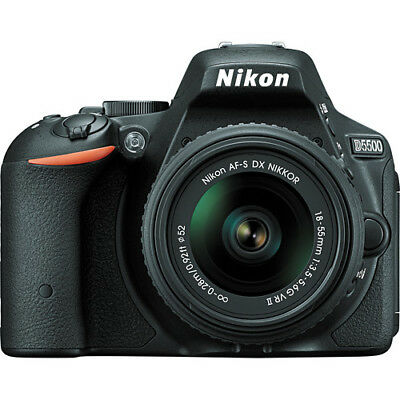 Nikon D5500 DX-format Digital SLR w/ 18-55mm VR II Kit (Black)!! BRAND NEW!!