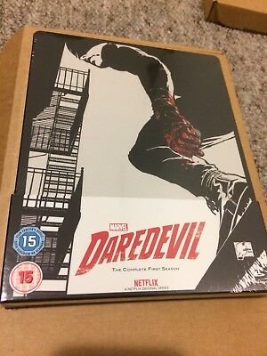 DAREDEVIL SEASON 1 ZAVVI BLU RAY STEELBOOK New Sealed