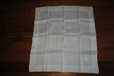 Five Victorian Silk Handkerchiefs, 4 With Initials And 1 Plain