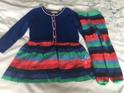 Next Baby Girl Dress 6-9 Months With Matching Tights