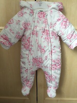Baby Girl Snowsuit 3-6 Months