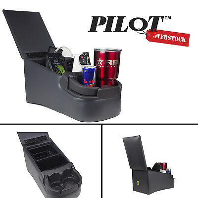 Outland Universal Charcoal Gray Bench Seat Console with Cup Holders 16.5 x8.5x 9