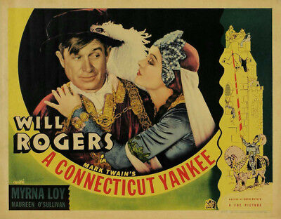 A Connecticut Yankee UNSIGNED poster photo -K2183- Will Rogers & William Farnum