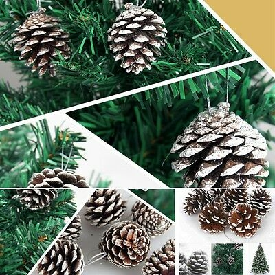 9pcs/set Christmas Pine*Cones Baubles Santa Claus Xmas Tree Party Decor.Ornament