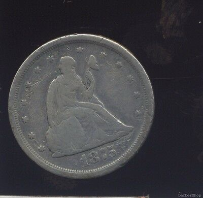 1875s VG Seated Liberty 20 cent piece.