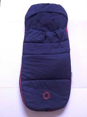 Bugaboo Cameleon3 Neon Special Edition Winter Stroller Footmuff Navy Red 3
