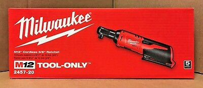 "NEW IN BOX! Milwaukee 2457-20 M12 Cordless 3/8"" Ratchet FREE PRIORITY SHIPPING!"