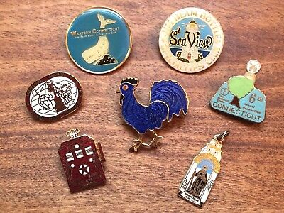 Collectible JIM BEAM WHISKEY PINS & CHARM plus a Blue Rooster!