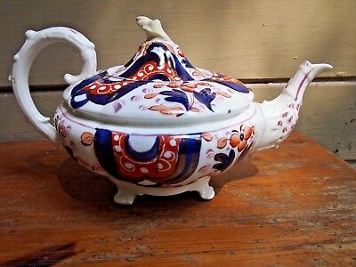 Antique Gaudy Welsh Teapot for your collection