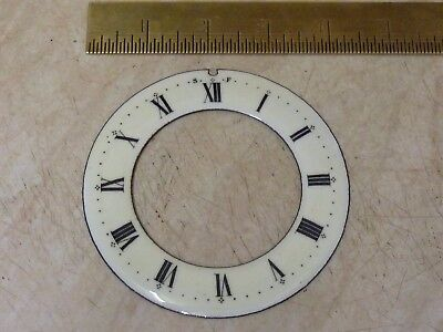 "Good Antique French Clock 4 1/8"" Enamel Chapter Ring (Cd)"