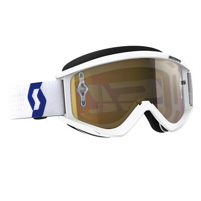Scott Recoil Xi MX Goggle Cross/MTB Brille weiß/rot/goldfarben chrom works