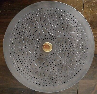 Primitive Round Ceiling Light With Chisel Punched Tin Design Country Lighting