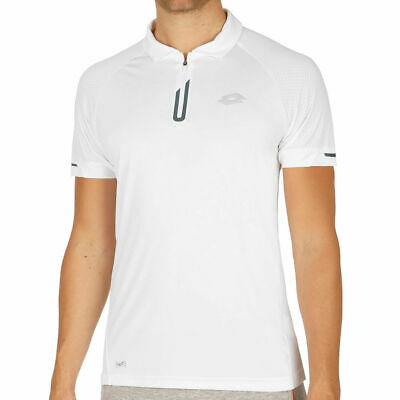 Lotto Men's Summer Dragon Tech Polo - White Lotto