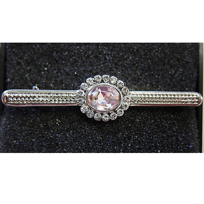 Karoo Equine Swarovski Crystal Rose Pink Competition Show Stock Tie Pin Brooch