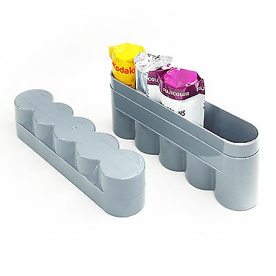 120 plastic film hard case box Container for 5 rolls of 120 films 18% Gray