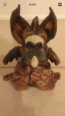 DRAGON Handmade Clay / Pottery Incense Burner Cover Renaissance