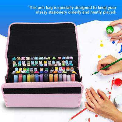 Markers Pen Case Holder Organizer Bag For Marker Pen 84 Slots For Touch Copic SG