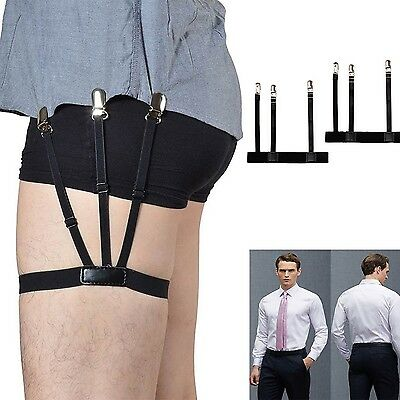 2pcs / Pair Hidden Suspenders Keep Your Shirts Perfectly Tucked Adjustable Strap