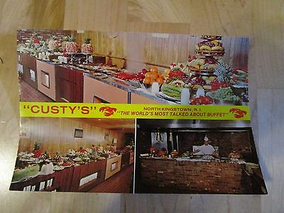 Scarce Unused Custy's Buffet Route 1,North Kingstown, R.I. Giant Post Card 6 X 9
