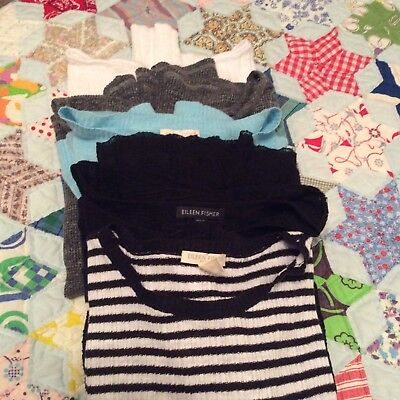 Lot of 5 Eileen Fisher Sweaters
