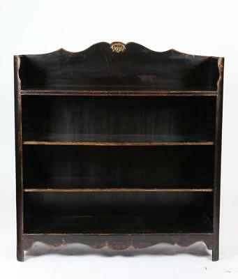 21ST CENTURY RUSTIC BLACK PAINTED BOOKCASE IN THE FRENCH PROVINCIAL S... Lot 830