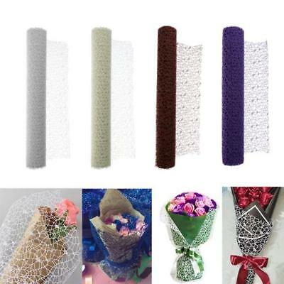 1 Roll Plastic Fibre Mesh Paper DIY Flower Bouquet Wrapping Wedding Gift Packing