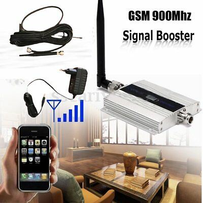 900Mhz Cell Mobile Phone GSM Signal Repeater Booster Amplifier + Yagi Antenna B2