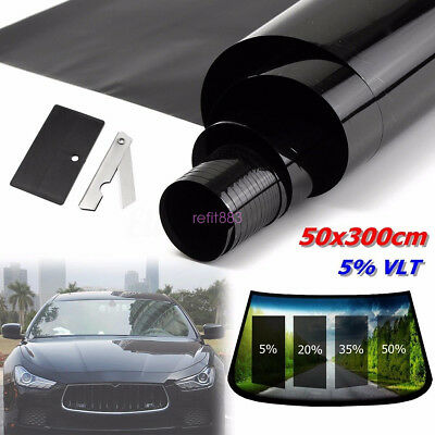 5% VLT CAR SUV HOME HOUSE WINDOW TINT GLASS FILM TINTING ROLL FEET SHADE 3mx50cm