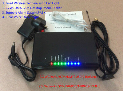 LED Display 3G WCDMA 2G GSM Fixed Wireless Terminal, Support Alarm System, PABX