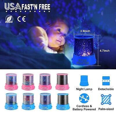 Romantic LED Starry Light Night Sky Star Cosmos Master Projection Lamp Kids Gift