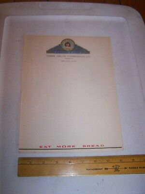 Antique Vintage WESTERN QUEEN FLOUR Stationary TERRE HAUTE COMMISSION Indiana