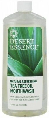 (16) - Desert Essence 54317 Tea Tree Oil Mouthwash. Shipping Included